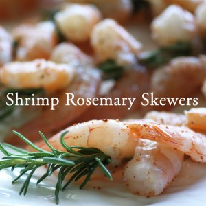 Recipe Shrimp Rosemary Skewers BBQ